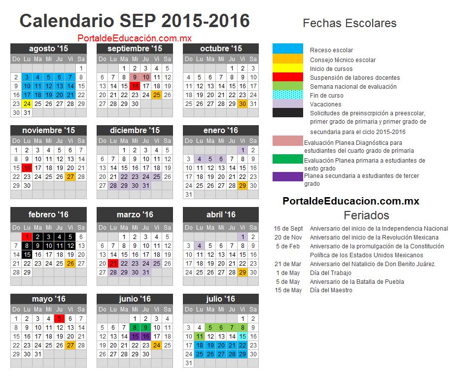 Calendario De Mexico 2016 | Calendar Template 2016